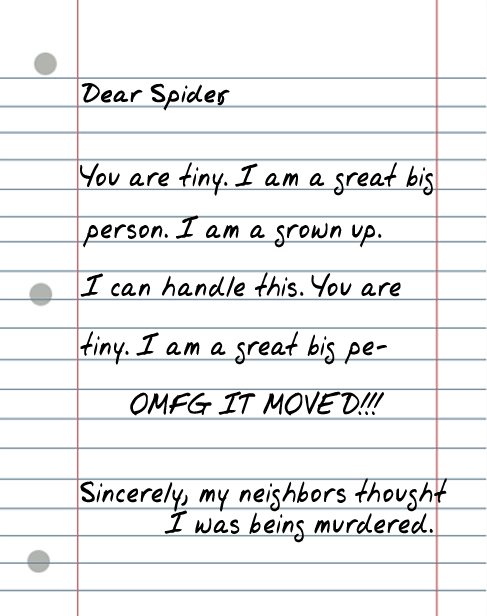 dear spider 25 Random Sarcastic Funny Short Letters