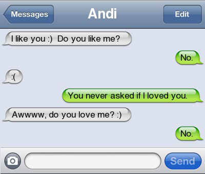 do you love me 21 Ultra Hilarious & Awkward Text Conversations Made on iPhone