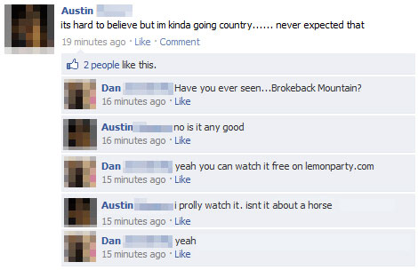 dont go there 15 Extremely Funny Facebook Status Messages