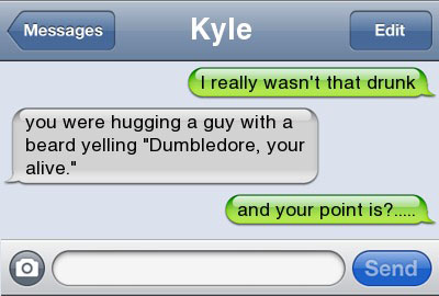 dumbledor 21 Ultra Hilarious & Awkward Text Conversations Made on iPhone