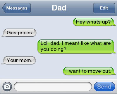 gas prices 21 Ultra Hilarious & Awkward Text Conversations Made on iPhone
