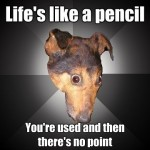 life is like a pencil