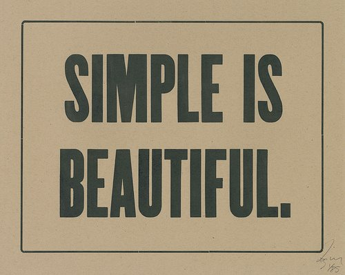 simple is beautiful A Little Inspiration Goes a Long Way, Pick Some =)