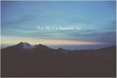 this life is a beautiful war A Little Inspiration Goes a Long Way, Pick Some =)