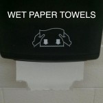 wet paper towels