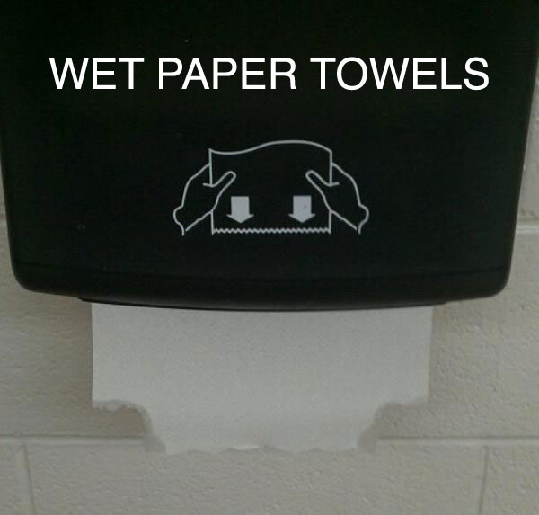 wet paper towels 25 Pictures of The Most Comfortably Uncomfortable First World Problems
