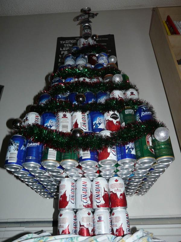 Beer cans christmas tree 20 Ideas that Help Get Creative with Your Christmas Tree