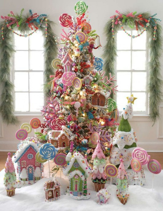 Christmas tree made of candies 20 Ideas that Help Get Creative with Your Christmas Tree