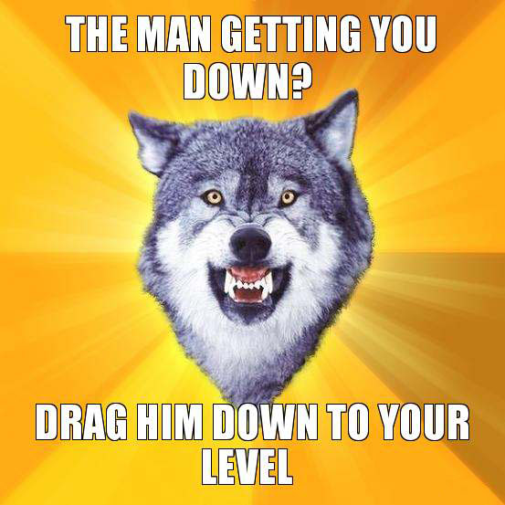Getting you down - Courage wolf