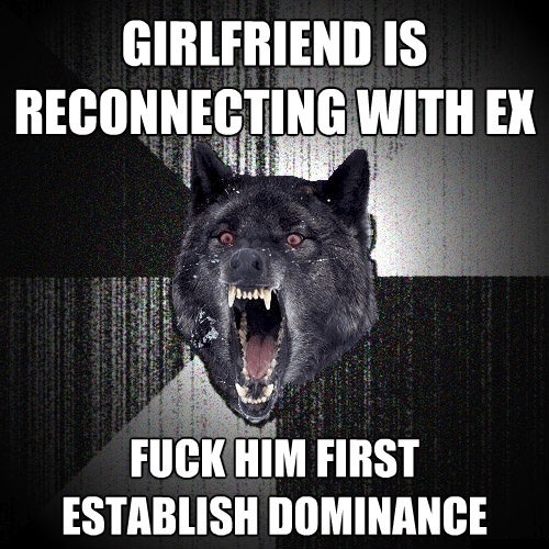 Girlfriend is reconnecting with ex Insanity wolf Return of the Wolfpack: Top 15 Courage and Insanity Wolf Memes