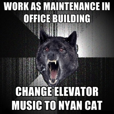 In the office building - Insanity wolf