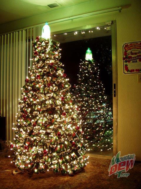 Mountain dew christmas tree 20 Ideas that Help Get Creative with Your Christmas Tree