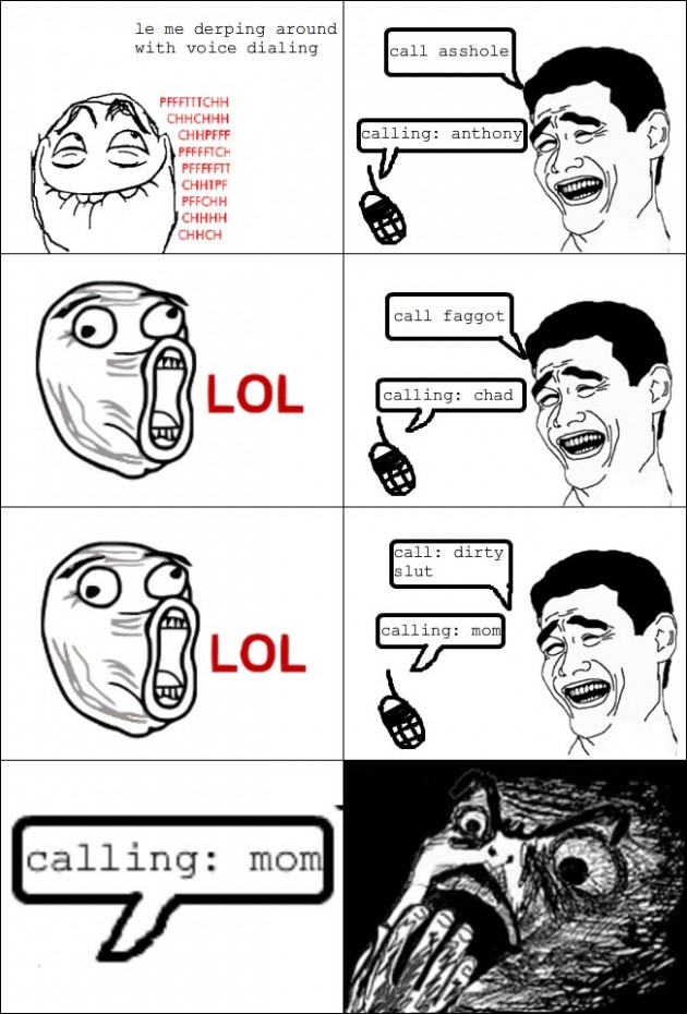 calling mom 630x930 40 Hilarious Parents Related Rage Comics that Will Make You LOL
