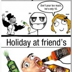 drinking with parents vs friends