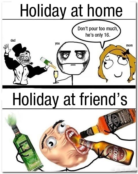 drinking with parents vs friends 40 Hilarious Parents Related Rage Comics that Will Make You LOL