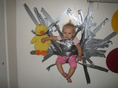 duct tape baby 15 Pictures of How Not To Parent Your Kid