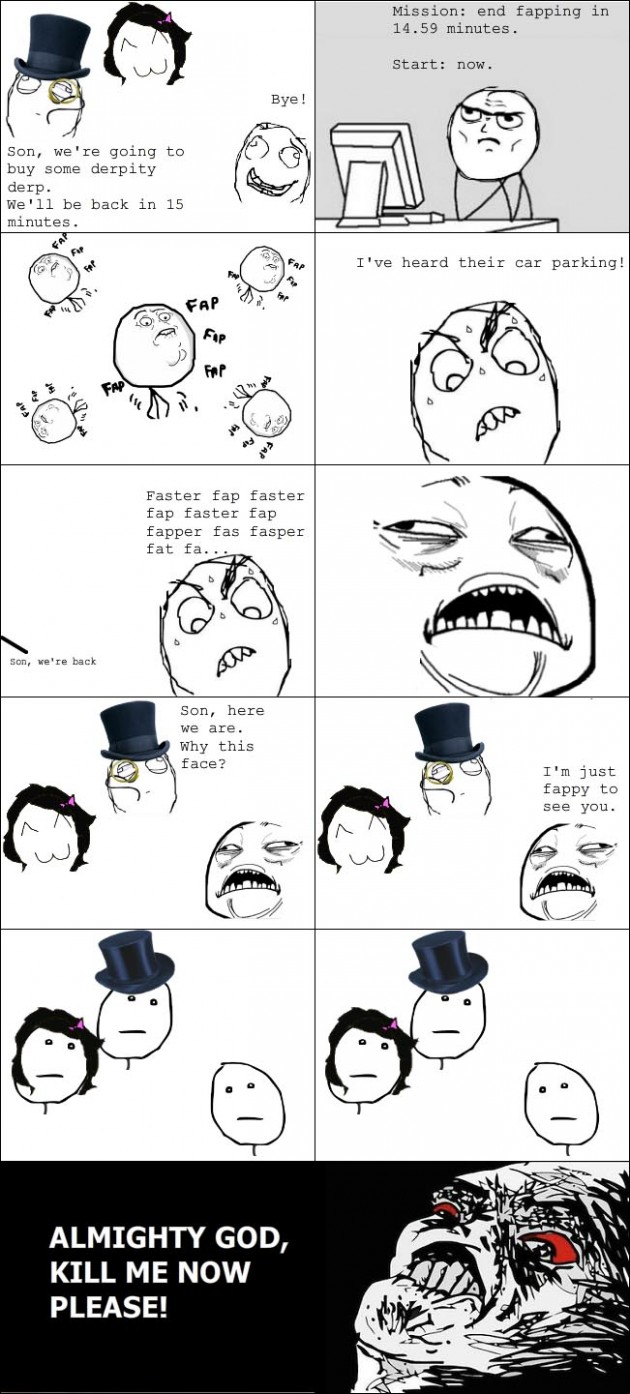 fapper vs parents 630x1394 40 Hilarious Parents Related Rage Comics that Will Make You LOL