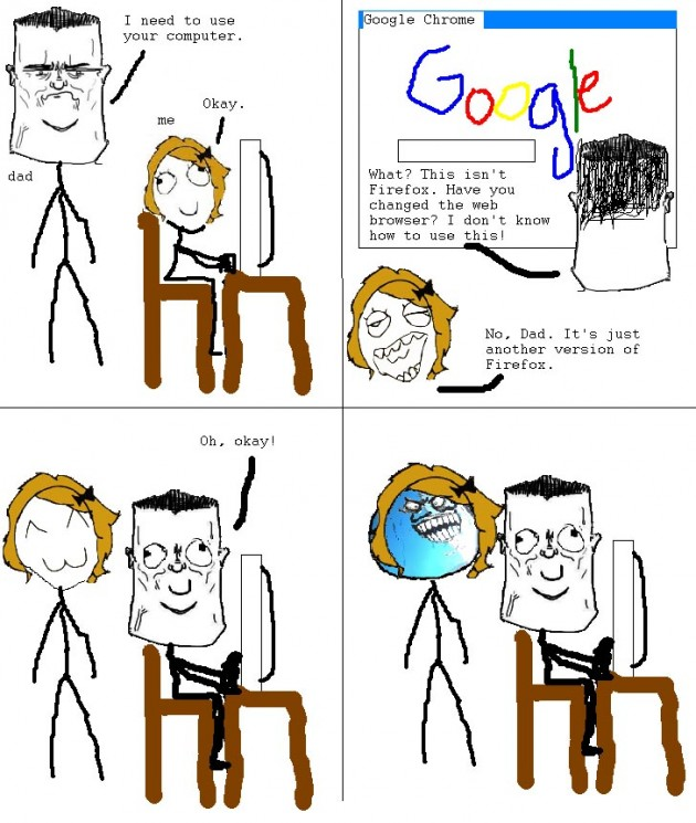 my parents and web browsers 630x745 40 Hilarious Parents Related Rage Comics that Will Make You LOL