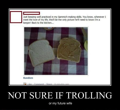not sure if trolling Your Required Dosage of Demotivation   21 Hilarious Posters