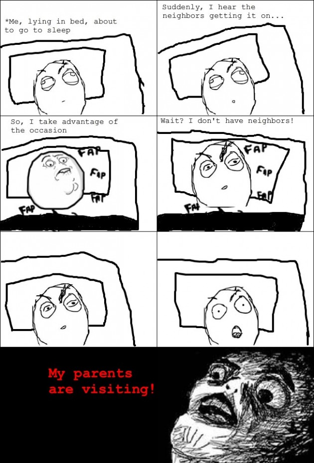 parents staying over rage 630x930 40 Hilarious Parents Related Rage Comics that Will Make You LOL