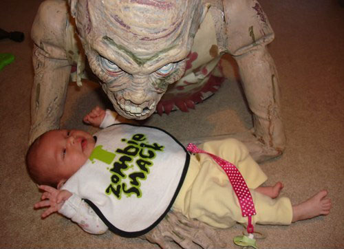 zombie snack 15 Pictures of How Not To Parent Your Kid