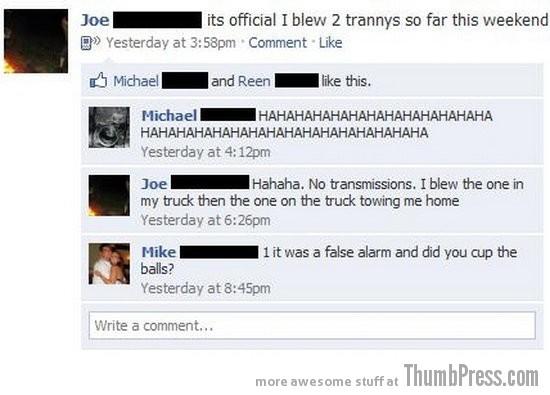 Blow trannys