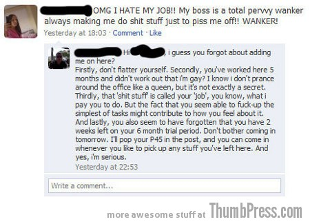 Boss on facebook Facebook Fiascos: 15 of the Worst Facebook Fails to Make You LOL