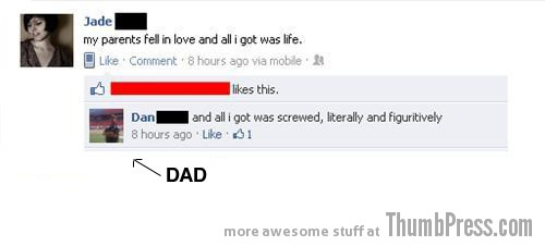 Dad suffers 15 Hilarious Examples Why You Should Not Befriend Your Parents on Facebook
