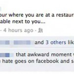 Restaurant awkward