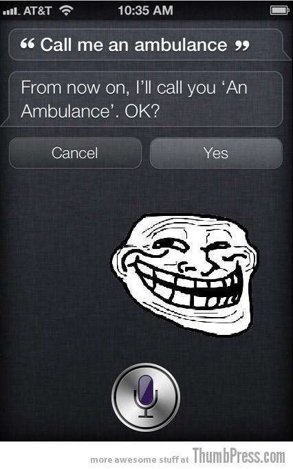Siri trolled
