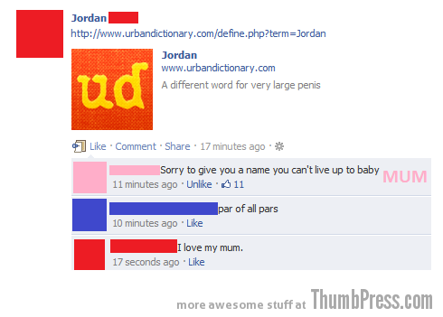 Sorry for the name 15 Hilarious Examples Why You Should Not Befriend Your Parents on Facebook