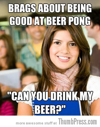 beer pong Collection of Hilarious Memes About The 3 Most Typical College White Kids (15 Pics)