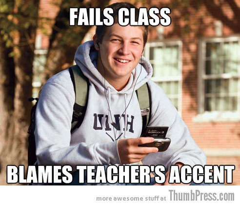fails class Collection of Hilarious Memes About The 3 Most Typical College White Kids (15 Pics)