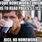 no homework