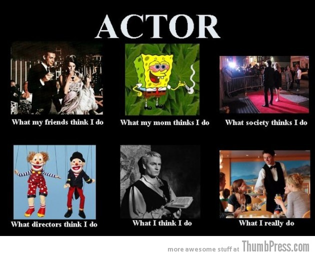 Actor 630x512 The Best of What People Think I Do / What I Really Do Meme (25 Pics)
