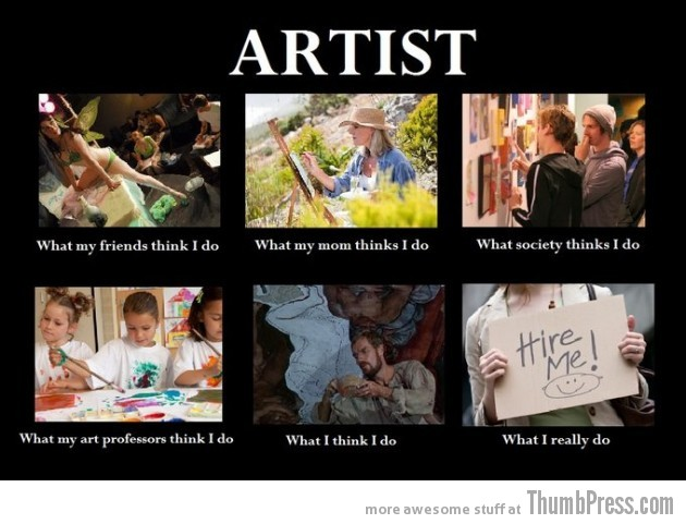 Artist 630x481 The Best of What People Think I Do / What I Really Do Meme (25 Pics)