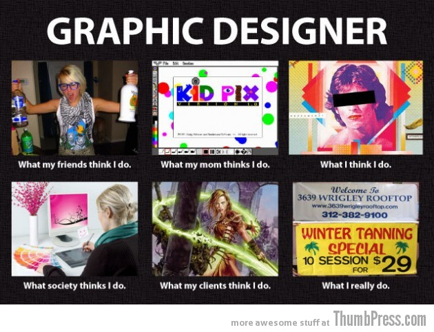 Graphics Designer 630x482 The Best of What People Think I Do / What I Really Do Meme (25 Pics)