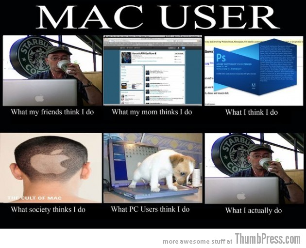 Mac User 630x512 The Best of What People Think I Do / What I Really Do Meme (25 Pics)
