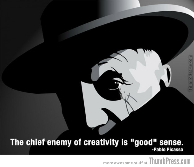 Pablo Picasso 630x544 Celebrity Wisdom: 15 Inspiring Quotations by Popular Celebrities