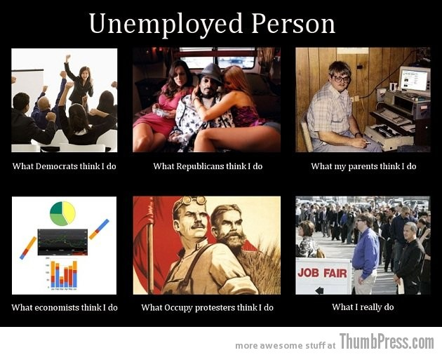 Unemployed person