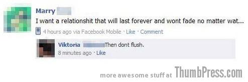 Don't flush