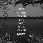If you never try you never know
