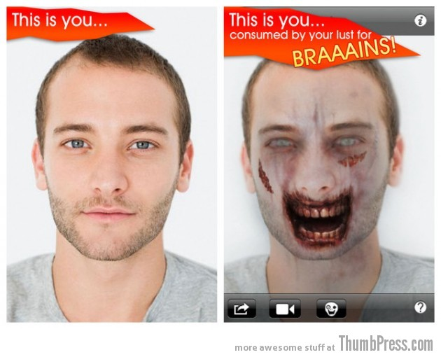 1.ZombieBooth 630x510 Top 10 Bizarre iPhone Apps You Wouldnt Believe Exist