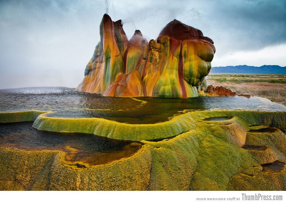 17. Fly Geyser in Nevada