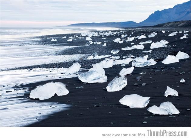 19. Black beach. Iceland