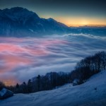 24. Moon and Venus Over Switzerland