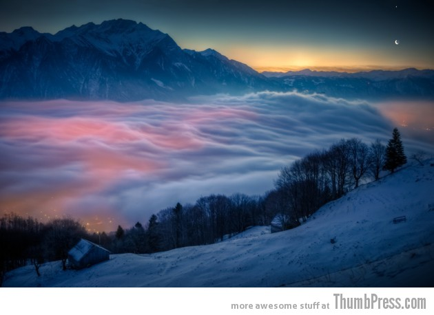 24. Moon and Venus Over Switzerland 630x458 25 Epic Photographs of Breathtaking Landscapes
