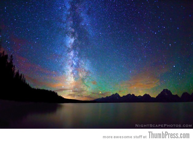 8 Milky Way over Jackson Lake 630x460 25 Epic Photographs of Breathtaking Landscapes