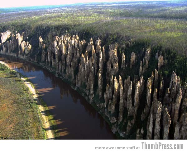 Lena's Stone Pillars Siberia 10 Amazing Alien Like Places on Our World That Are From Another Planet