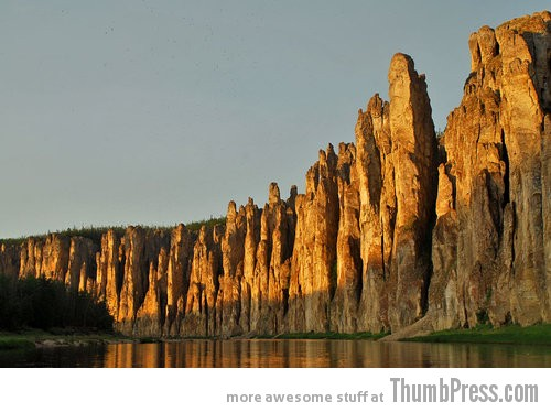 Lena's Stone Pillars Siberia1 10 Amazing Alien Like Places on Our World That Are From Another Planet